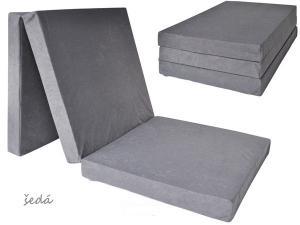 FIMEX Rozkladacie matrace pre hostí UNI 80x195x10cm Vzor: šedá