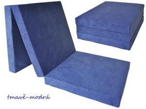 FIMEX Rozkladacie matrace pre hostí UNI 80x195x15cm Vzor: tmavě-modrá