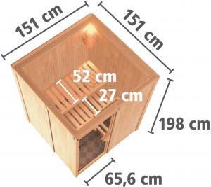 fínska sauna KARIBU NORIN (75588)
