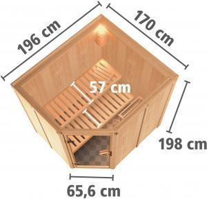 fínska sauna KARIBU SIIRIN (71376)