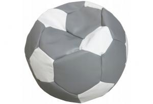 FITMANIA Sedací vak Futbalová LOPTA MÍČ XXL + podnožník Vzor: 13 ŠEDO-BÍLÁ