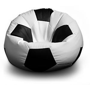 FITMANIA Sedací vak Futbalová LOPTA XXL 450L Vzor: 01 bílo-černá