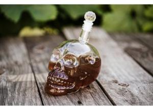 Fľaša na alkohol - Lebka 700ml