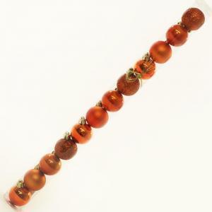 Florasystém 97692 Vianočné gule plast 4cm S/12 029 oranžové
