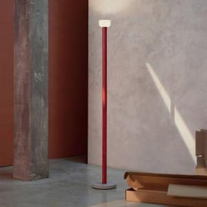 FLOS FLOS Bellhop stojaca LED lampa, červená