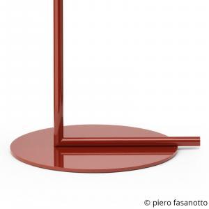 FLOS FLOS IC F1 stojaca lampa burgundská červená Ø20 cm