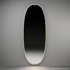 FLOS FLOSLaPlusBelle LED nástenné zrkadlo leštené zlato