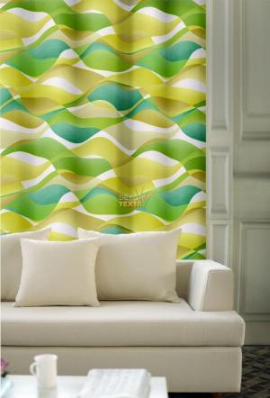 Forbyt, Záves dekoračná, OXY Hawaii 1, béžovo-zelené, 150 cm