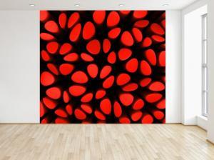 Fototapeta Červené stĺpiky 3D 150x200cm FT3962A_2M