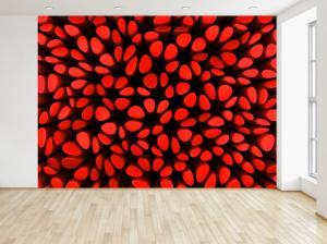 Fototapeta Červené stĺpiky 3D 200x135cm FT3962A_1AL