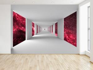 Fototapeta Chodba a červený vesmír 200x135cm FT4780A_1AL