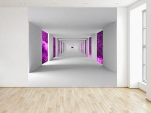 Fototapeta Chodba a fialový vesmír 150x200cm FT4742A_2M