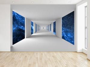 Fototapeta Chodba a modrý vesmír 200x135cm FT4720A_1AL