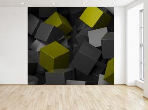 Fototapeta Čierno - zelené kocky 3D 150x200cm FT3706A_2M