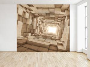 Fototapeta Drevený 3D tunel 150x200cm FT3708A_2M