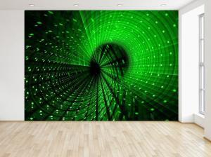 Fototapeta Futuristická zelená špirála 3D 200x135cm FT3312A_1AL