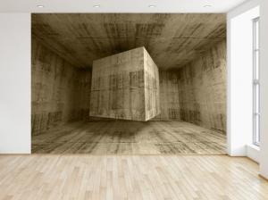 Fototapeta Lietajúca kamenná kocka 3D 200x135cm FT3713A_1AL