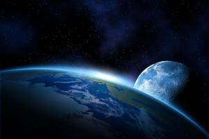 Fototapeta Mesiac a Zem 193 - samolepiaca
