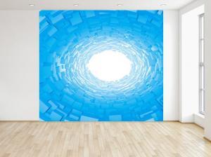 Fototapeta Modrý 3D tunel 150x200cm FT3716A_2M