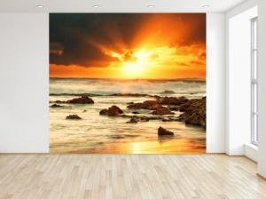Fototapeta Západ slnka nad rozbúreným morom 150x200cm FT4161A_2M