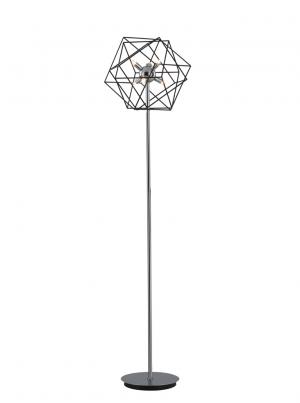 FRANKLITE SL225 VINCI stojací lampa 6xG9 lesklý chrom a antický černý kov