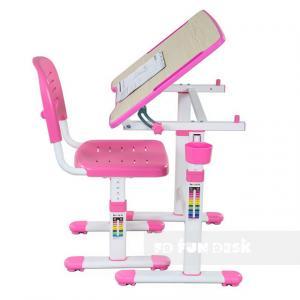 Fundesk Rastúci stôl PICCOLINO II + stolička Farba: Ružová