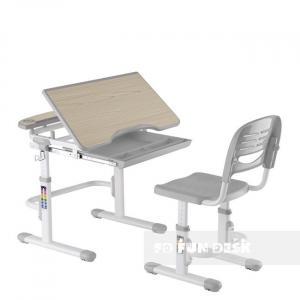 Fundesk Rastúci stôl SORRISO + stolička Farba: Sivá