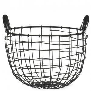 Garden Trading Drôtený úložný koš Wirework Black
