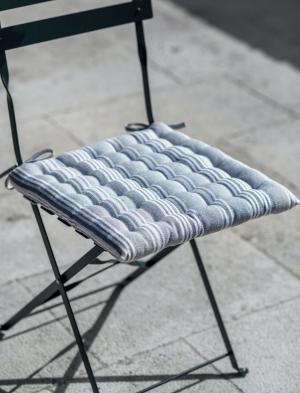 Garden Trading Sedák na stoličku Earl Grey Stripes