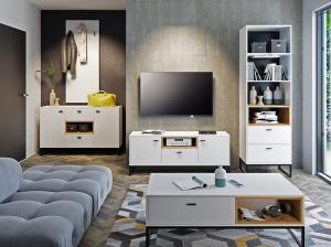GB TV stolík Cora - biela