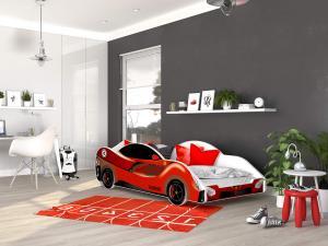 GL Detská posteľ auto 180x90 - červená