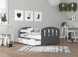 GL Detská posteľ Hana Sivé čelá Variant veľkosť postele: 200x90
