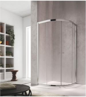 Glass 1989 Isy - posuvné dvere - štvrťkruh, pre šírku vaničky 80 cm