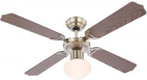 GLOBO 309 - Stropný ventilátor CHAMPION 1xE27/60W/230V