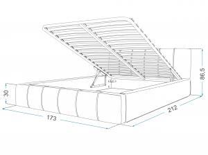 GM Čalúnená manželská posteľ Fiona - sivá Rozmer lôžka: 160x200