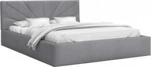 GM Čalúnená manželská posteľ Gabina - sivá Rozmer lôžka: 140x200
