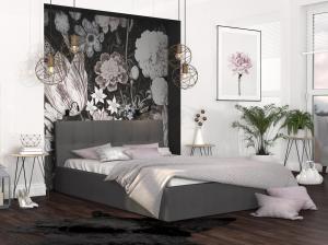 GM Čalúnená manželská posteľ Ingrit - grafit Rozmer lôžka: 160x200