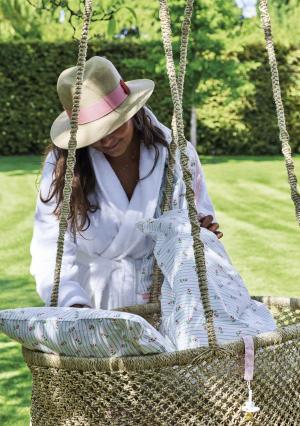 GREEN GATE Detská bavlnená plienka Lily white - set 3ks