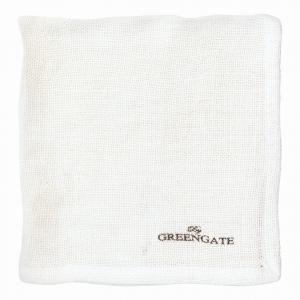 GREEN GATE Látkový obrúsok Heavy linen white