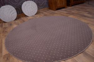 Guľatý koberec AKTUA Breny hnedý