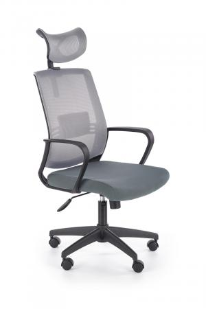 HALMAR Arsen kancelárske kreslo s podrúčkami sivá
