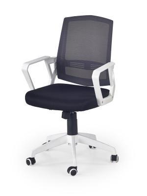 HALMAR Ascot kancelárska stolička s podrúčkami čierna / biela