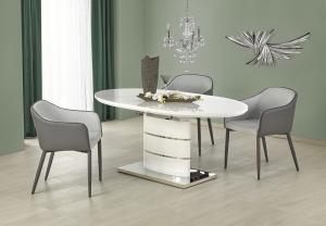 HALMAR Aspen rozkladací jedálenský stôl biely lesk