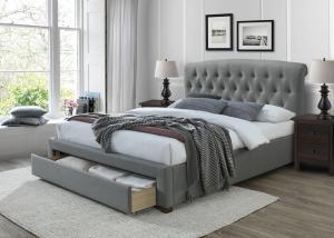 HALMAR Avanti 160 čalúnená manželská posteľ s úložným priestorom sivá