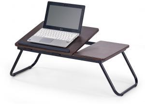 HALMAR B-19 stolík na notebook tmavý vlašský orech / čierna