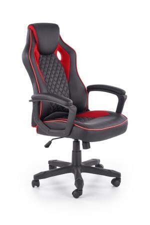 HALMAR Baffin kancelárske kreslo s podrúčkami čierna / červená