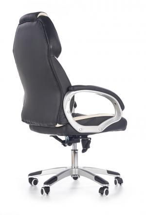 HALMAR Barton kancelárske kreslo s podrúčkami čierna / biela