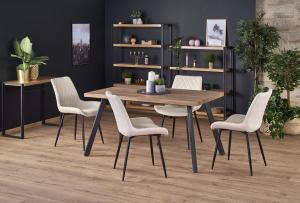 HALMAR Berlin rozkladací jedálenský stôl orech medový / čierna