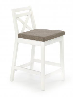 HALMAR Borys Low barová stolička biela / hnedá