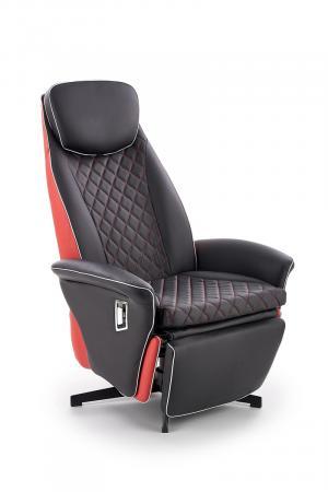 HALMAR Camaro relaxačné kreslo čierna / červená
